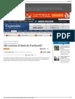 ¿Se avecina el final de Facebook,Digitech. Expansión.com