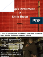 Group's Investment in Little Sheep