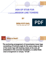 Design of Stub for Transmission Line Towers