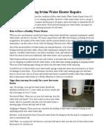 Preventing Irvine Water Heater Repairs