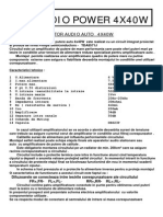 Amplificator Audio 4X40W AD_05.4