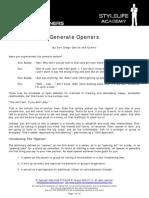 Generate Openers