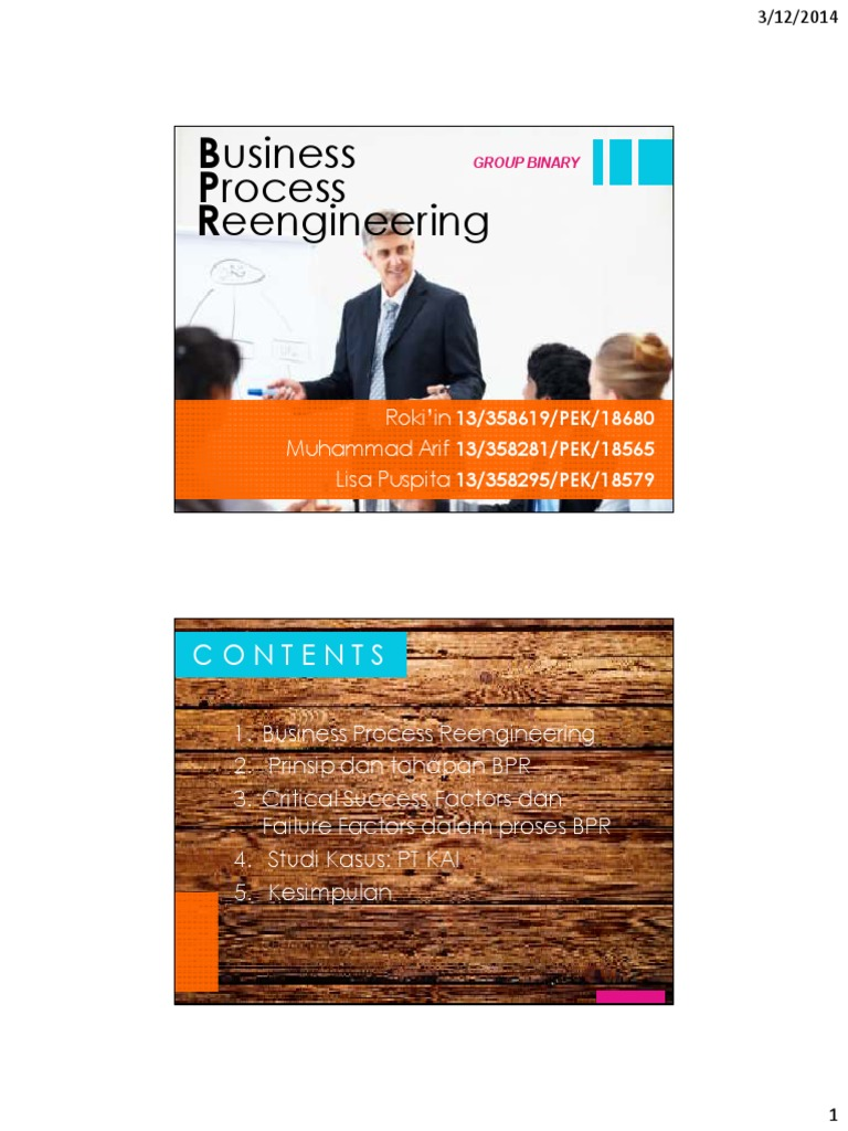 Contoh Penerapan Business Process Reengineering Pada ...