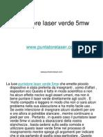 Puntatore Laser Verde 5mw Puntatorelaser.com