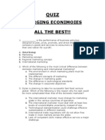Quiz Emerging Economies Prepared by Naval Bhushania