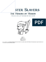 Monster Slayers the Heroes of Hesiod