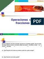 sesión 02 Operaciones  con fracciones