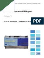 WEG Ruw 01 Guia Unidade Remota Canopen 10000300422 Guia de Instalacao Portugues Br