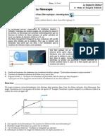 Exercices corrigés sur la fibre optique