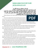 Pidato Bahasa Jawa Maulid Nabi Muhammad Saw[1]