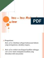 Isu – Isu Rule of law