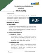 EMPRESA DE CONSTRUCCIÓN DE CERÁMICA ARTESANAL