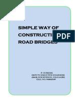 SIMPLE WAY OF CONSTRUCTING ROAD BRIDGES