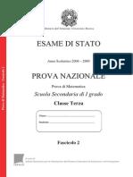 Invalsi Matematica 2008-2009 Terza[1]