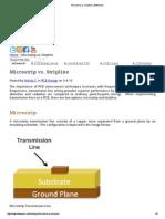 Microstrip vs. Stripline Transmission Lines