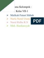 Nama Klmpk Malikah