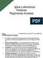 TEMA 3 002 LA HIDROGRAFÍA DE ESPAÑA conceptos y regímenes