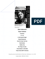 Guitar Book Allan Holdsworth - Super Guitarist