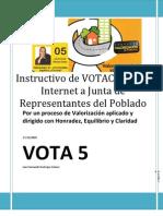 Instructivo de VOTACIÓN por Internet a Junta de Representantes del Poblado