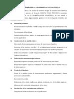 PAUTAS GENERALES DE LA INVESTIGACIÓN