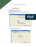 Installation of NS-2 on Windows