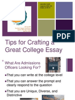 tips for crafting a great college essay