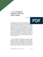 Max Hernández- Afecto, lenguaje, comunicación- los cabos sueltos