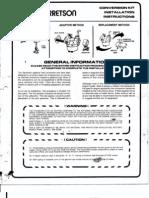 Gasseous Carbureton Info