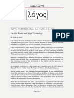 Environmental Linguistics