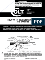 Colt AR-15 owners manual