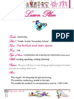 Plan de Lectie the British and Their Sports a.pop