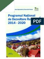 Programul National de Dezvoltare Rurala 2014 2020 Proiect