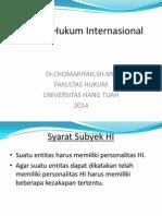 3. Subyek Hukum Internasional
