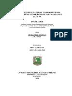 Analisa Defleksi Lateral Tiang Grup Pada Tanah Lempung Lunak Dengan Software Lpile Plus 4
