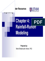 Chapter 4 Rainfall Runoff Modelling