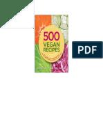 500 Vegan Recipes - Celine Steen