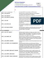 ABAP Function Code List