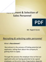 3. Recruitment & Selection