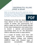 Anti Encephalitis Drive in Bihar