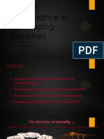 Role of Governance in Developing Countries