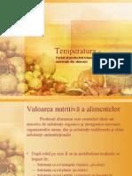 Influenta Temperaturii Asupra Produselor Alimentare,
