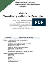 Material 1 de Tamaulipas y Retos Del Desarrollo. Ene-Abr 13