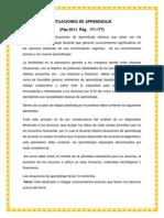Reporte de Lectura. Situaciones de Aprendizaje. Pep 2011