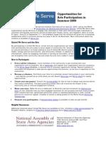 United We Serve Arts Factsheet
