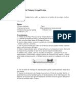 Principio del Trabajo y Energía Cinética