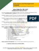 SBMSC Executive Order 001-1415