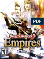 Dynasty Warriors 5 Empires - Manual - 360