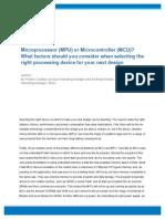 MCU vs MPU Article