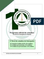 Programa Academico Osteopatia Escuela de Osteopatia de Madrid