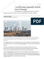 IPCC Report_ World Must Urgently Switch to Clean Sources of Energy _ Environment _ the Guardian